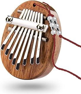 Mini kalimba portable à 8 Touches, Piano à Pouce, Marimbas, Instrument de Musique, Pendentif pour Enfants et Adultes Début...