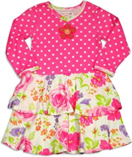 Baby Lulu - Baby Girls Long Sleeve Ava Mushroom Dress