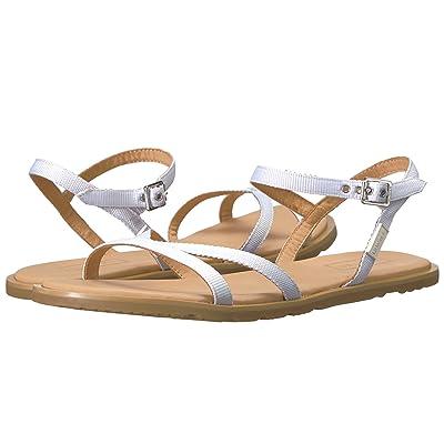 Hunter Original Web Cross Front Sandal (White/Gum) Women
