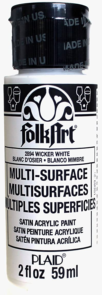 FolkArt Multi-Surface Paint in Assorted Colors (2 oz), 2894, Wicker White