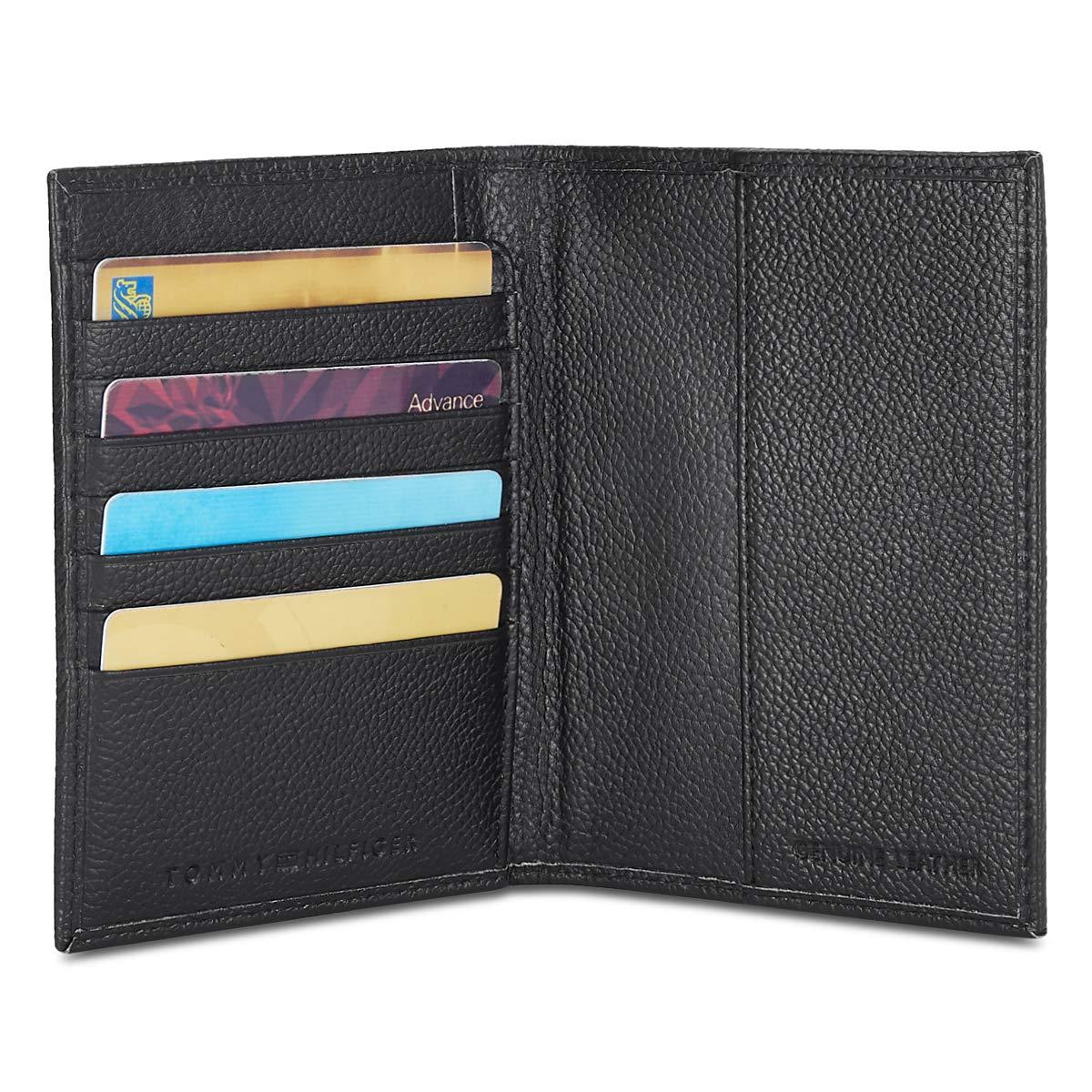 Tommy Hilfiger Men's Leather Wallet  Black  Wallets