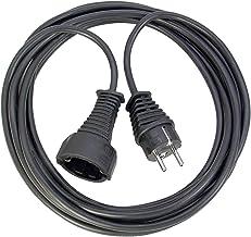 Brennenstuhl Qualitäts-Kunststoff-Verlängerungskabel 2m schwarz, 1165010015