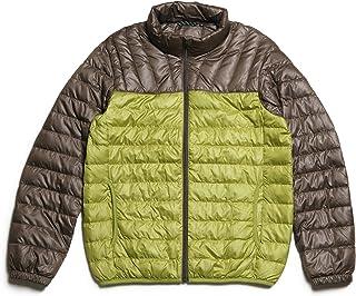 NO BRAND(ノーブランド) ライトダウンジャケット メンズ ツートンカラー ダウンコート ダウン80% フェザー20% LoftAir メンズ