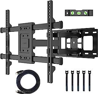 BONTEC TV Muurbeugel voor 32-70 inch flatscreen TV's, draai en kantbare TV muurbeugel, Sterke dubbele bevestiging die een ...