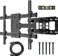 BONTEC Support TV Mural pour Écran Plat et Incurvé LCD LED 32-70 Pouces, Support TV Orientable et Inclinable, Bras Doubles...