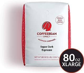 Coffee Bean Direct Super Dark Espresso, Whole Bean Coffee, 5-Pound Bag