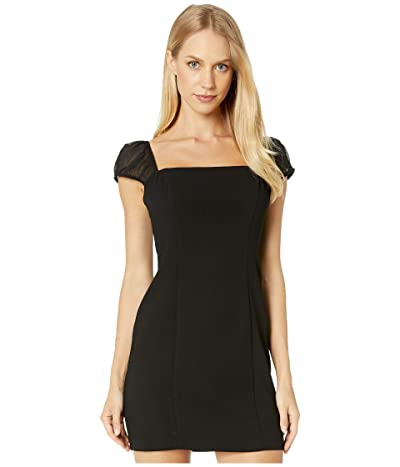 BCBGeneration Shirred Sleeve Dress GEF6226034 (Black) Women