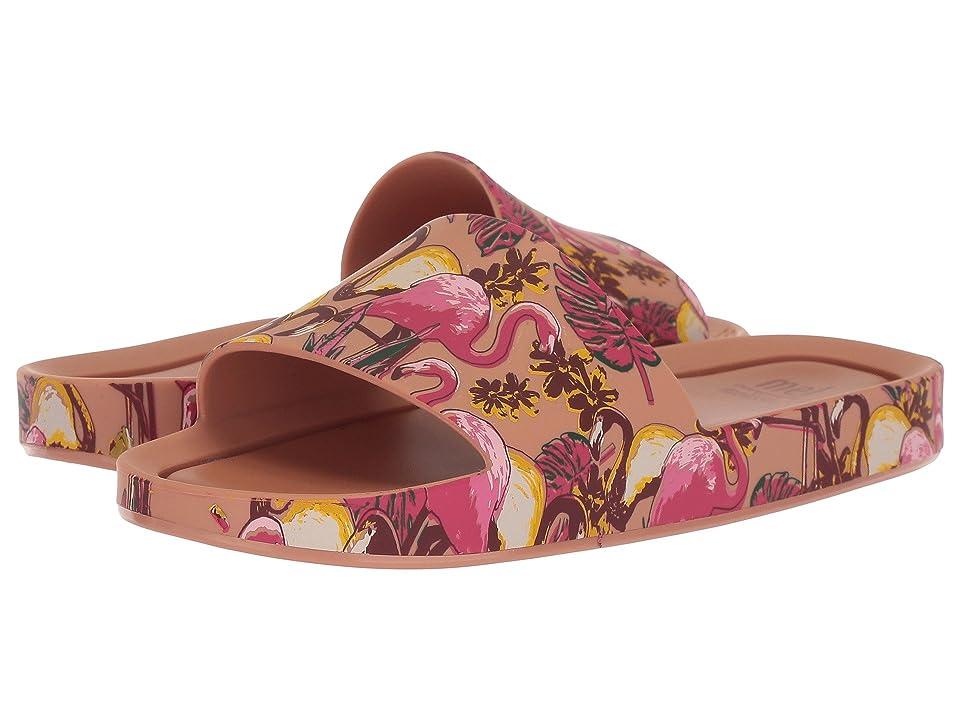 Mini Melissa Mel Beach Slide 3DB (Little Kid/Big Kid) (Brown/Light Pink) Girl