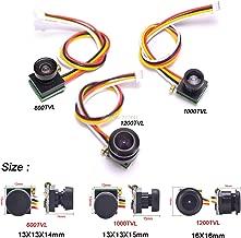 Hockus Accessories 600TVL / 1000TVL 170 Degree / 1200TVL 150 Degree Super Small Color Video Mini FPV Camera with Audio for Mini 200 250 Quadcopter - (Color: 1000TVL Camera)