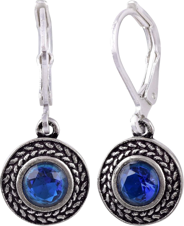 FALCON JEWELLERY Color Declaration Swarovski Lever-Back Drop Earrings