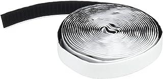 Apalus Cinta Adhesiva de gancho con Respaldo Adhesivo para Mosquitera para Puertas 630x2 CM (Negro)