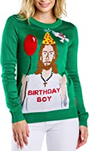 Tipsy Elves Women's Ugly Christmas Sweater - Happy Birthday Jesus Sweater Green