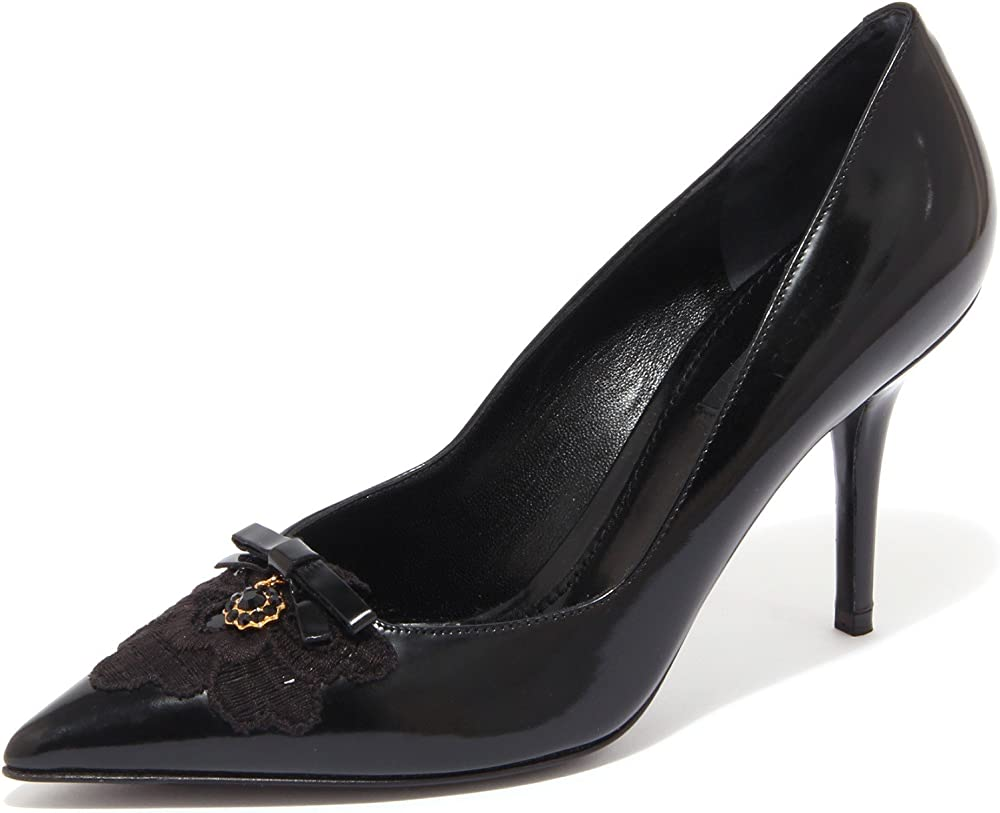 Dolce & gabbana décolleté scarpe da donna con il tacco 9.5 cm n° 37,5 eu 79106