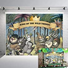 Fanghui 7x5FT Where The Wild Things are Theme Party Backdrop King of The Wild Things Boys Birthday Party Banner Supplies Baby Shower Dress Up Party Photo Background Booth Props