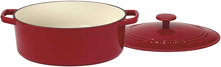 Cuisinart CI755-30CR Chef's Classic Enameled Cast Iron 5-1/2-Quart Oval Covered Casserole, Cardinal Red