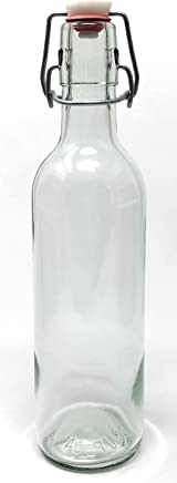 375 ml (12.5 oz) Swing Top Glass Bottle 12 Pack EZ Top JP-04 Metro