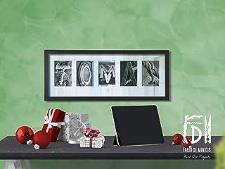 """Lámina""""Nombre x 5"""" Arte personalizado con fotografías de cinco letras creativas, 61 x 25,5 cm (sin enmarcar)"""