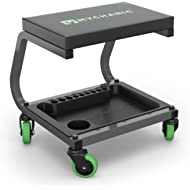 MYCHANIC Fastback Shop Stool - Rolling Garage Stool - 350 Lb Capacity - 3-Inch Casters - Tool...