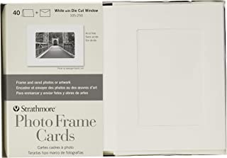 Strathmore (105-250 Photo Frame Cards Cutout Window, 40 Cards & Envelopes, White, 40 Cards & Envelopes