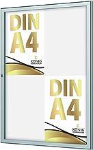 König Basic Opbergdoos voor binnen 4 x A4   afsluitbaar   stabiel aluminium frame   slagvast acrylglas   afsluitbaar