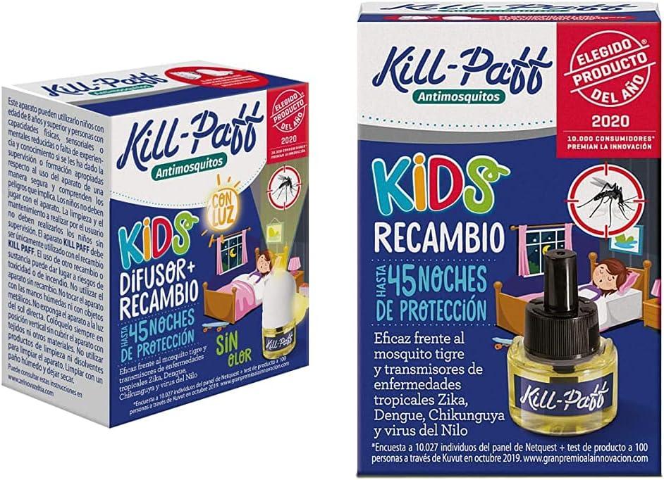 KILL-PAFF KIDS |Insecticida Eléctrico |Antimosquitos |Eficaz Contra Mosquito + Kill Paff Kids| Insecticida Eléctrico| Antimosquitos |Eficaz Contra Mosquito Tigre y Transmisores