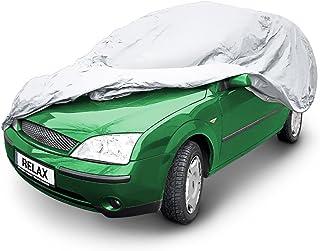 Relaxdays Autogarage Combi, T x B x H: 485 x 151 x 116 cm, Größe M, mit Tasche, wasserdicht, Abdeckplane, PEVA, grau