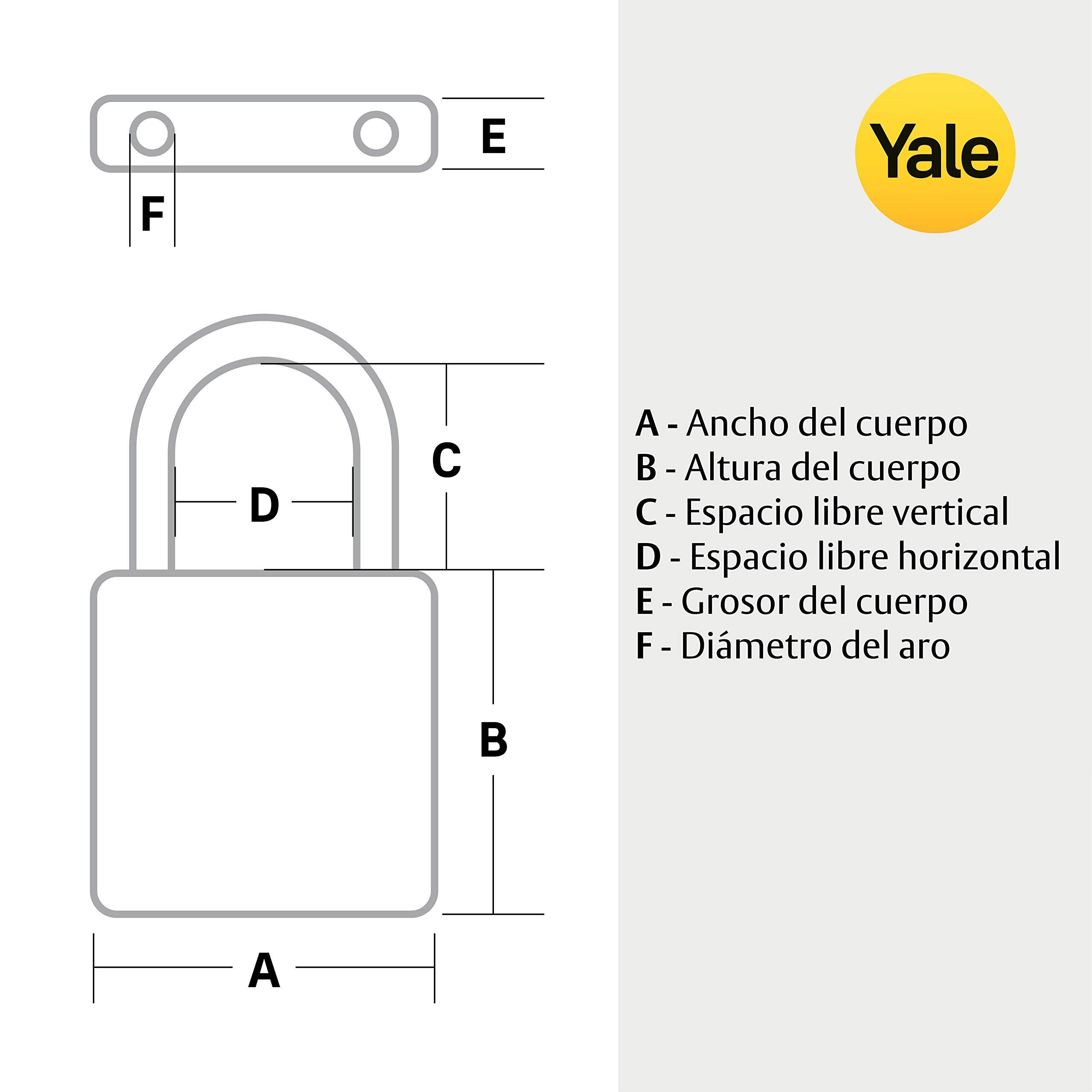 Yale Y90S/45/129/1 Candado de Seguridad, 45 mm: Amazon.es: Bricolaje y herramientas