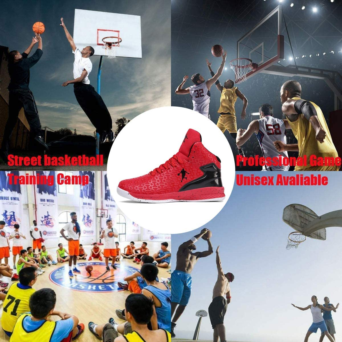 Rotok Chaussures de Basketball pour Hommes et Femmes