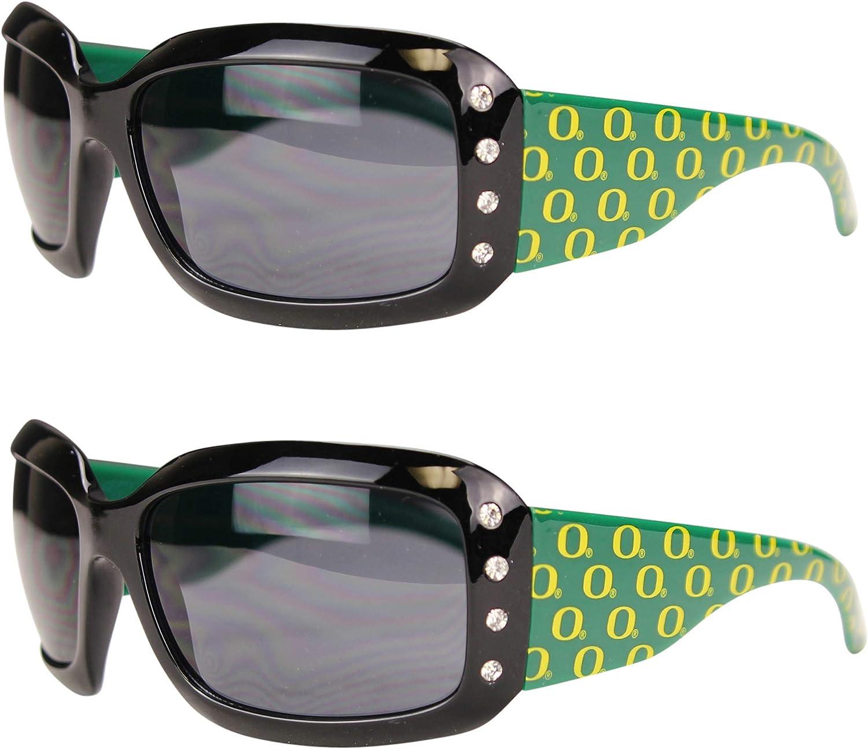 Sisk Sports NCAA 2-Pack Miami Mall Brand Cheap Sale Venue Rhinestone Designer Sunglasses Bling