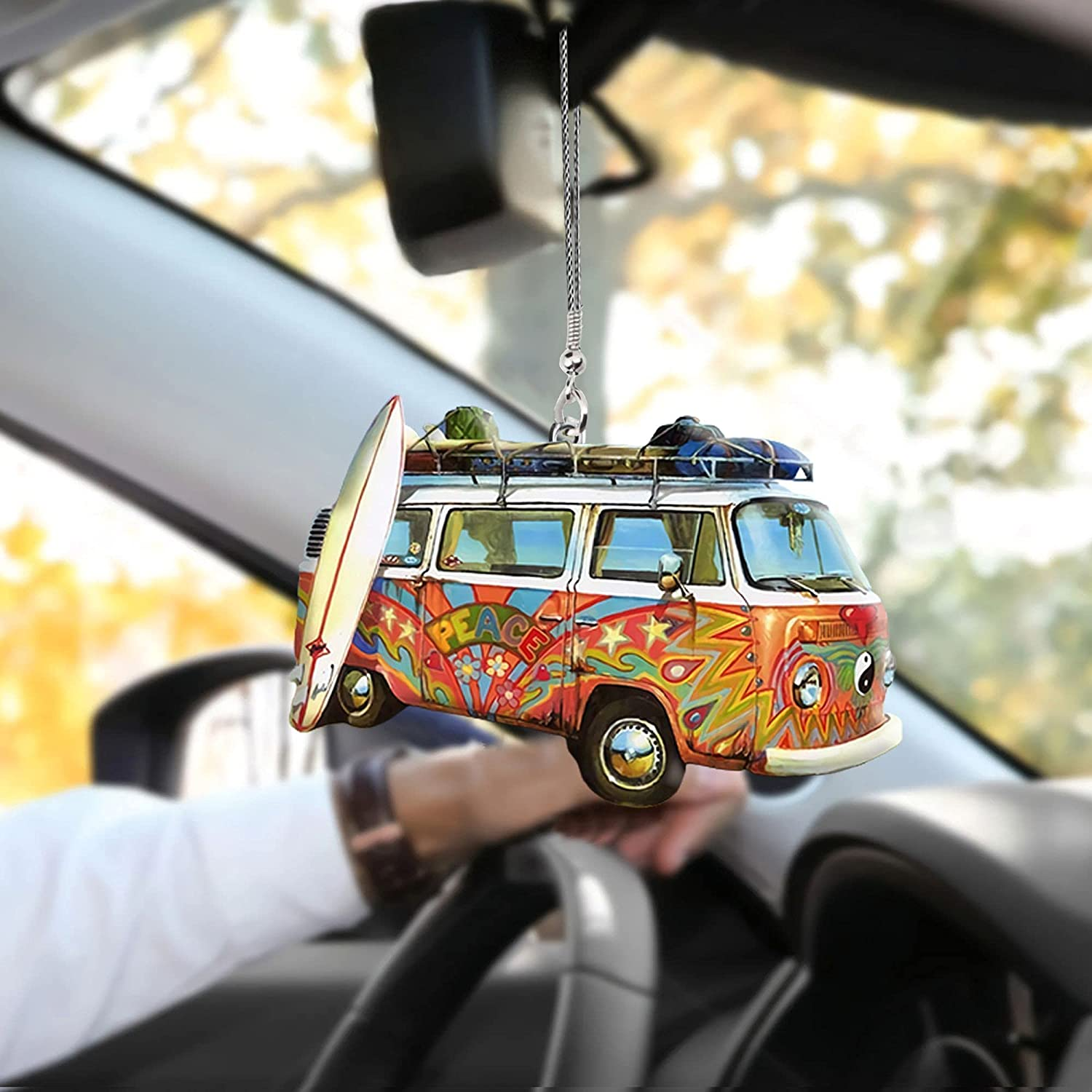 Surfboard Max 84% OFF with Camping Vans trend rank Car Ornament PCS Hanging 10