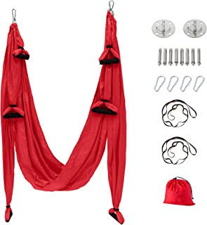Maxwelly Aerial Yoga Flying Yoga Swing Yoga Hammock Trapeze Sling ابزار وارونگی برای بدنسازی در خانه