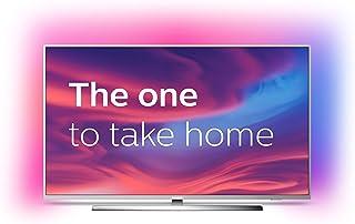 Televisor Philips Ambilight 50pus7354, Smart TV de 126 cm (50 Pulgadas), 4K LED, HDR10/10+, Android TV, Google Assistant, Dolby Vision/Atmos, Compatible Alexa, peana Central Aluminio giratoria