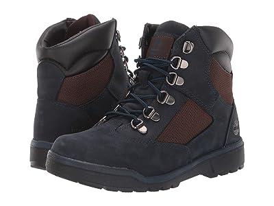Timberland Kids 6 Fabric/Leather Field Boot (Big Kid) (Navy Nubuck) Kids Shoes