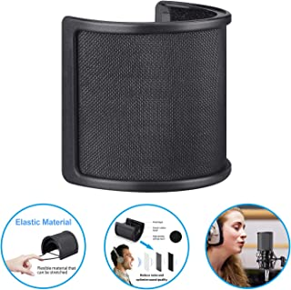 Pop Filter,Aokeo [Upgraded Three Layers] Metal Mesh &...