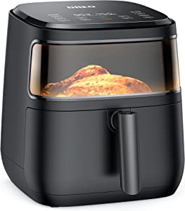 Dreo Air Fryer Pro Max, 11-in-1 Digital Air Fryer Oven Cooker with 100 Recipes, Visible Window, Supports Customerizable Cooking, 100℉ to 450℉, LED Touchscreen, Easy to Clean, Shake Reminder, 6.8QT