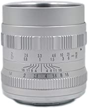 HUABAN 50mm F1.4 Large Aperture Manual Prime Fixed Lens for APS-C Digital Mirrorless Camera Canon EF-M Mount