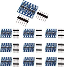 KeeYees 10pcs 4 Channels IIC I2C Logic Level Converter Bi-Directional Module 3.3V to 5V Shifter for Arduino (Pack of 10)