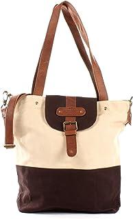LECONI Schultertasche Frauen Umhängetasche großer Shopper für Damen Handtasche Vintage-Look aus Canvas & Leder 38x35x11cm ...
