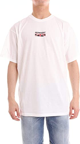 REPRESENT Homme FW18061WHITW Blanc Coton T-Shirt