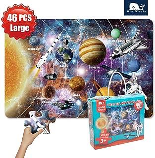 Kids Puzzle Solar System Floor Puzzle Grown Up Puzzles for Kids Age 3 Raising Children Recognition &Promotes Hand-Eye Coordinatio (42Pcs,3x2Feet)
