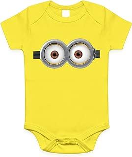 Minion Eyes Infant Baby Onesies / Bodysuit (0-6 Months, Yellow two eyes)