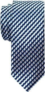 Retreez Wavy Zig Zag Stripe Pattern Woven Skinny Tie Necktie
