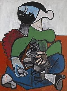 Pablo Picasso - Femme Au Chien, Size 18x24 inch, Gallery Wrapped Canvas Art Print Wall décor