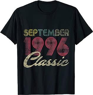 Classic September 1996 Bday Men Women Gifts 23rd Birthday T-Shirt