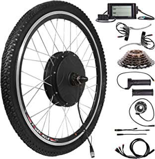 motor el/éctrico 36 V//48 V Aohuada Kit de conversi/ón para rueda delantera de bicicleta el/éctrica de 20 pulgadas kit de conversi/ón LED 20 pulgadas, 48 V, 1000 W 250 W//1000 W