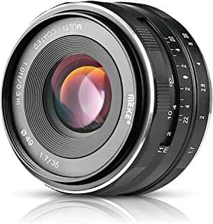 Meike 35mm F1.7 Large Aperture Manual Focus Fixed Lens for Canon EF-M EOS M1 M2 M3 M5 M6 M10 M100