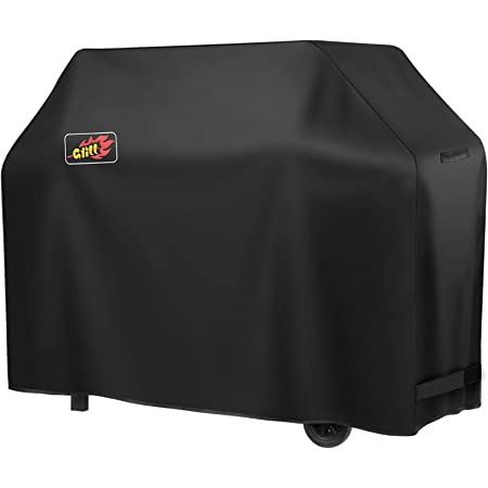 VicTsing Grill Cover, 600D Heavy Duty 58-Inch Waterproof BBQ Cover, Gas Grill Cover for Weber, Char-Broil (Sunray/Dust/Wind/Weather/Rip Resistant)