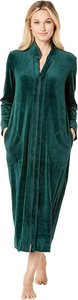 Plush Luxe Velour Long Zip Robe