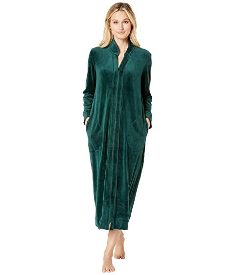 Carole Hochman Plush Luxe Velour Long Zip Robe at Zappos.com 9d4c1e848