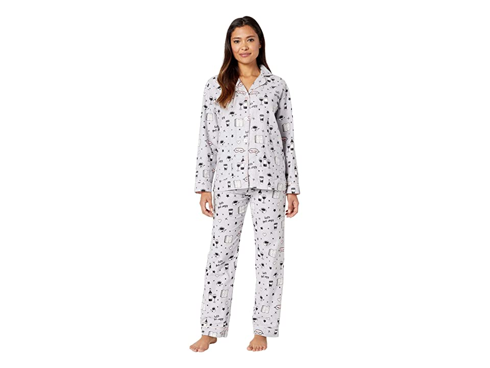 559f2d6b5e P.J. Salvage Let s Get Cozy PJ Set (Light Grey) Women s Pajama Sets